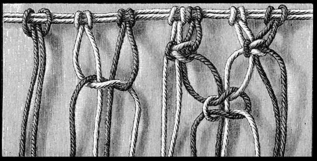 Makrama - węzeł płaski