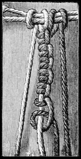 Makrama - węzeł rypsowy