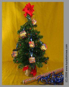 Ozdoby choinkowe – bombki origami