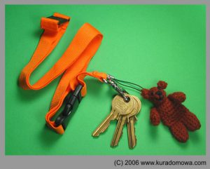 Wzór szydełkowy na misia (breloczek do kluczy)