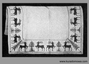 Haft krzyżykowy wzory retro na Boże Narodzenie