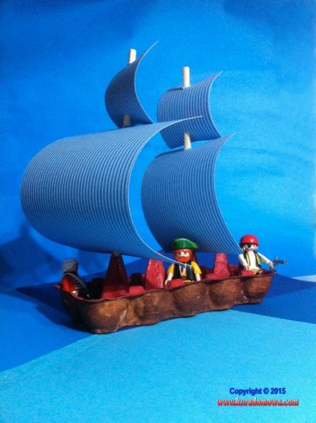 Jak zrobić statek piracki z tekturowych opakowań po jajkach