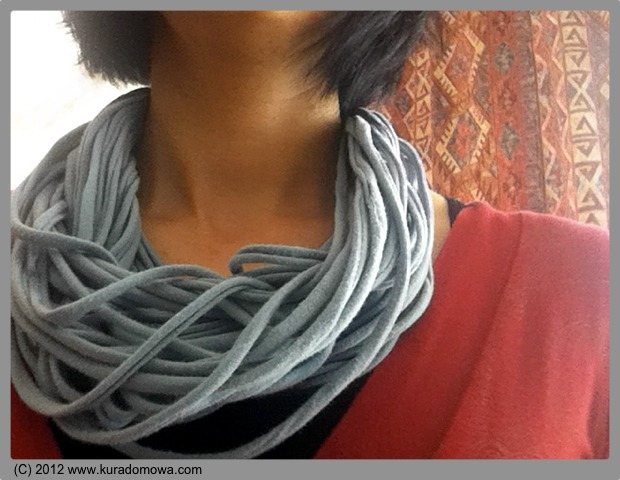 Jak zrobić sznurkowy szal bawełniany