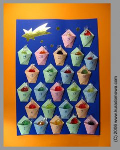 Adwentowy kalendarz zcukierkami