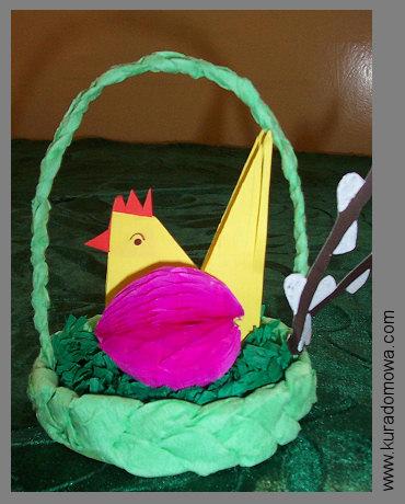 Wielkanocne koszyczki z papieru