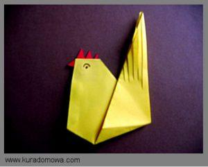 Ozdoby wielkanocne – kurka origami
