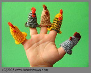 Wzór na szydełkowe kurki miniaturki
