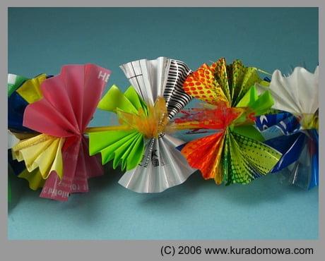 Ozdoby choinkowe łańcuch z papieru