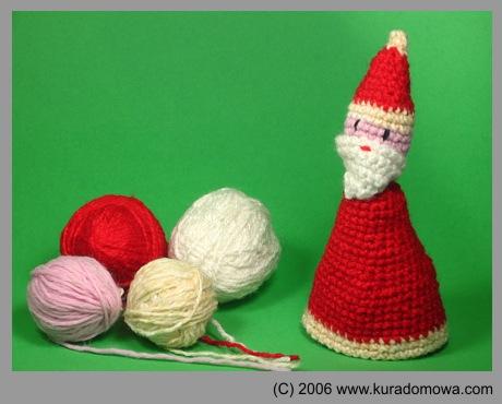Szydełkowy Mikołaj wzór na osłonkę na jajka