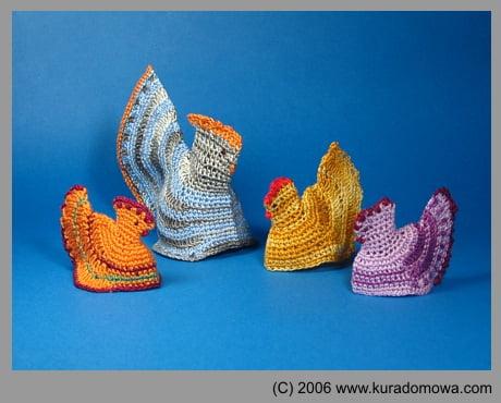 Ozdoby Wielkanocne – wzory na kurki szydełkowe