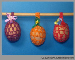 Ozdoby Wielkanocne – szydełkowe pisanki