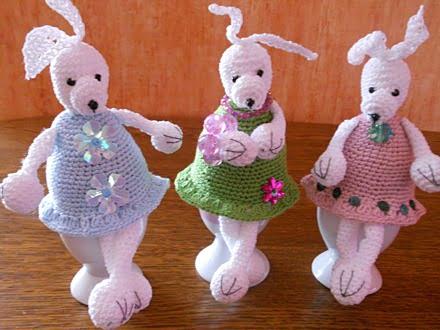 Ozdoby Wielkanocne – szydełkowe zajączki nagrodzone wkonkursie Kury Domowej