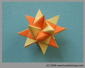 Ozdoby Bożonarodzeniowe – papierowa gwiazda3D