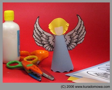 Ozdoby choinkowe – aniołek z papieru