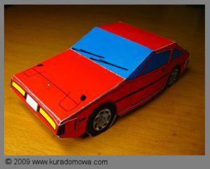 Papierowy model samochodu do samodzielnego złożenia