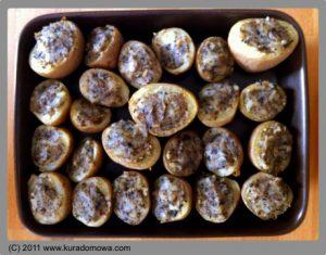 Przepis na ziemniaki faszerowane pieczarkami
