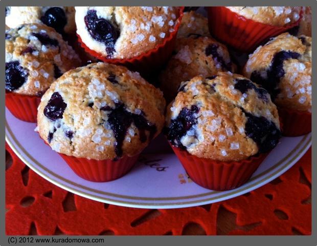 Przepis na muffinki z borówką amerykańską