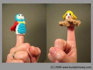 Robótki szydełkowe – wzory na zabawki paluszkowe rycerz i królewna