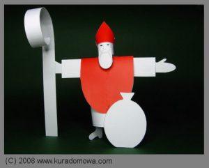 Święty Mikołaj biskup figurka z papieru
