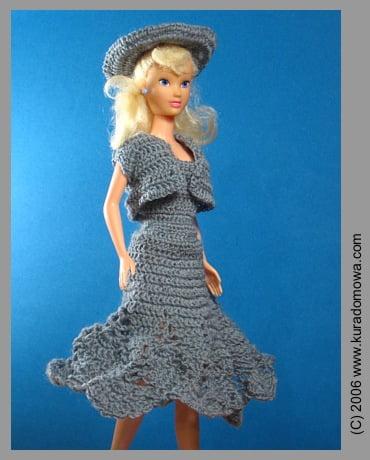 Ubranka szydełkowe dla lalki barbie