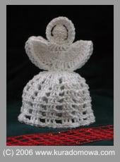 Wzór na szydełkowego aniołka